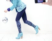 Blackberry print leggings