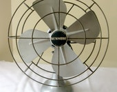 Vintage Desk Fan, Kenmore 8000A Vintage Table Fan, Silver, Working Condition, Electric Fan, Industrial Fan