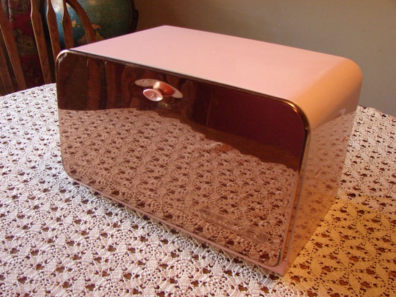 Pink Bread Box Lincoln BeautyWare Beauty Box Copper Front