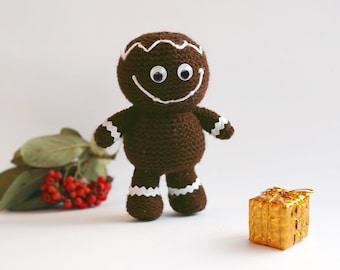Gingerbread man - pdf knitting pattern. Christmas Ornament