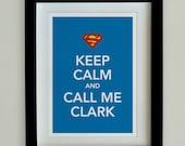 Large A3 Keep Calm Hero Print