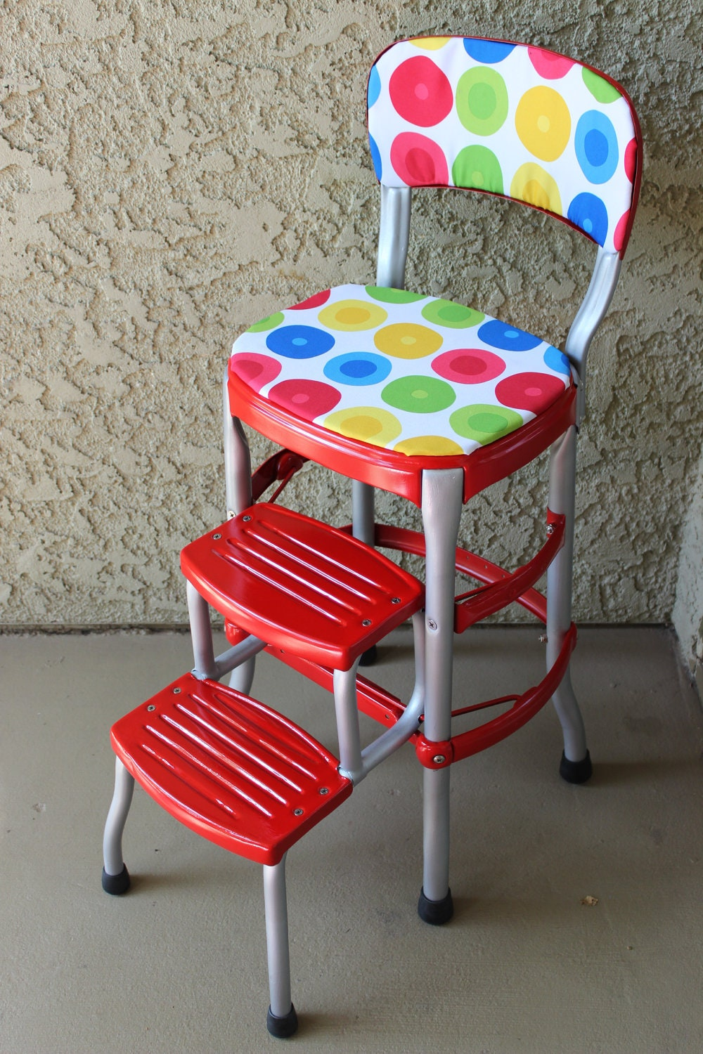 Vintage Red Cosco Step Stool