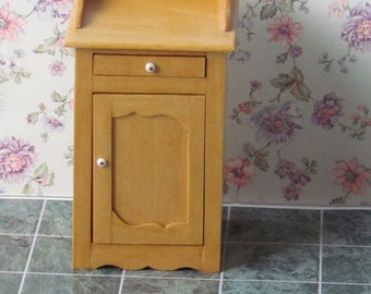 Dollhouse Miniature Furniture Handcrafted  Pine Night table Quebecois style 12th scale