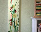 Personalized Wooden Growth Chart - Eliza's Meadow - Lemon