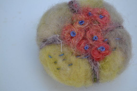 Needle Felted Forest Fairy Flower Pin Cushion