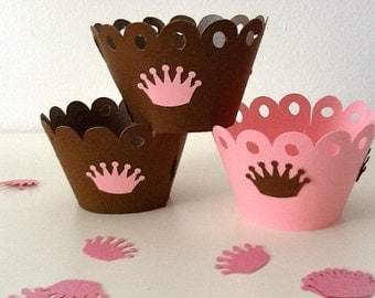 CROWN Cupcake wrapper / Baby Shower / Princess party / Crown party / Fancy party