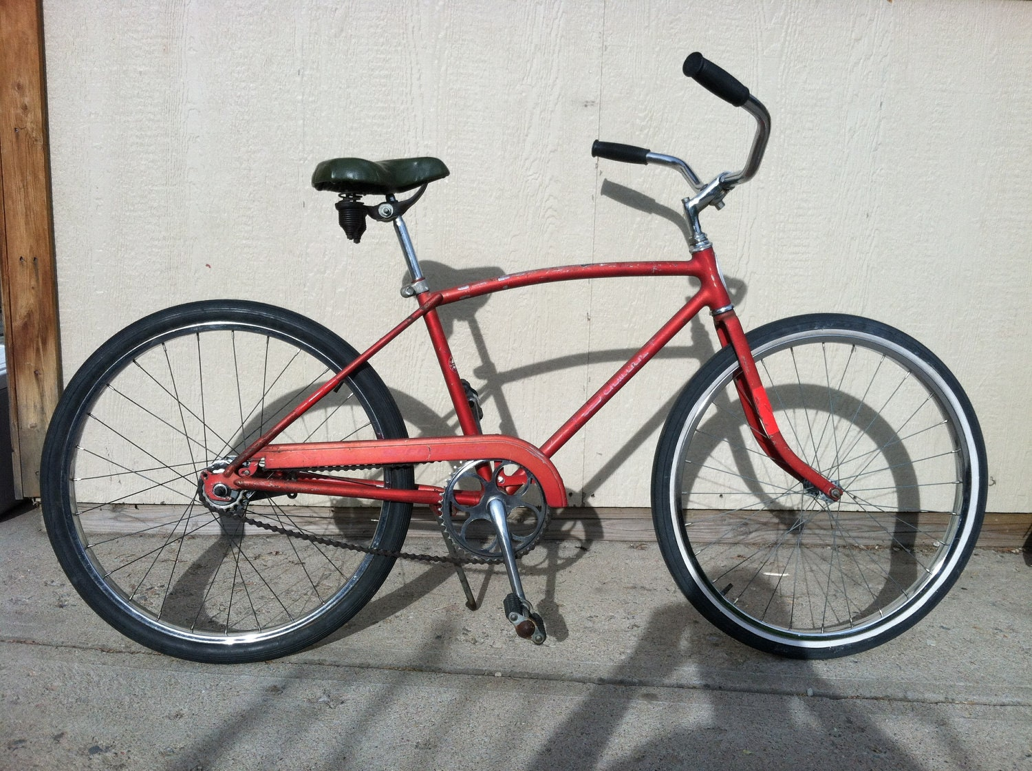 Vintage Firecracker Red Schwinn Speedster Cruiser Bike 1965