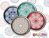 CHROCHET SNOWFLAKES - 1 inch & 1.5 inch images for resin pendants bezel settings magnets DIY craft bottle caps Jewelry Making Glass Cabochon