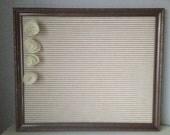 Magnetic memo board - beige and cream stripes