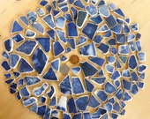 400 grams SEA  POTTERY Deep cobalt blue Shards from Beaches in Scotland