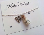 Lucky Buddha Message in a Bottle Necklace with secret wishes