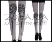 WIngs on Light Grey Tights (F71-LGB)
