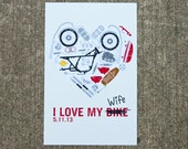 I Love My Wife - Motorcycle Parts Wedding Poster
