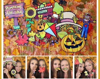 autumn photo booth props - perfect to celebrate the seasons and fall