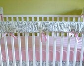 Bumperless Crib Bedding DESIGN YOUR OWN 3 Piece Teething Guard / Rail Cover Set