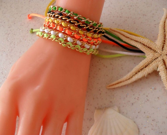 Colorful Bracelets - Neon Bracelet - Friendship Bracelets - Chain - Bangle - Bracelet - Macrame - Summer Style - Beach - Summer