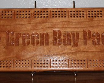 Green Bay Packer Board Made From Figured Cherry Wood