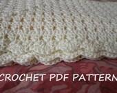 Crochet Baby Blanket Pattern. PDF 020.
