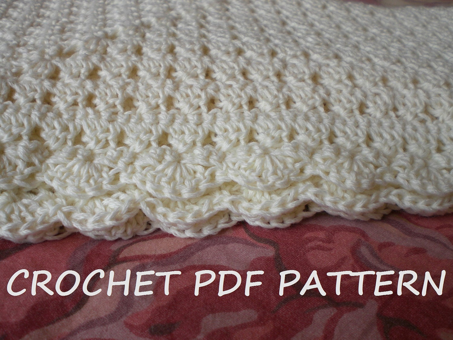 Crochet Baby Blanket Pattern. PDF 020. by vivartshop on Etsy