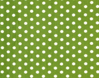Everything Nice:  Green Dot- Pink Light Design for Robert Kaufman 1/2 Yard Cut
