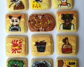 Mr. Fox Cookies with Buttercream Frosting