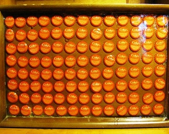 CLEARANCE     Coke Tray made with Bottle Caps