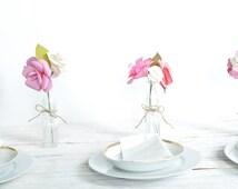 Pink Paper Flower Bouquets Set of four Paper flower bouquet