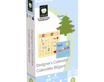 DESIGNERs CALENDAR CRICUT CARTRIDGE - Retired and Rare - New and Sealed