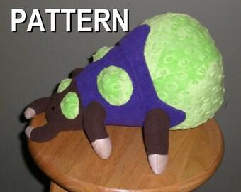 Starcraft 2 zerg bangling inspired fan art plush, sewing pattern