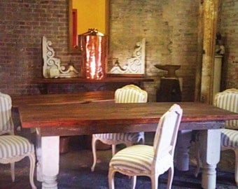 FARM TABLE 2 inch thick barn wood top