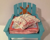 Hand painted adirondack style napkin holder