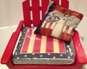 Stars and Stripes Adirondack chair napkin holder