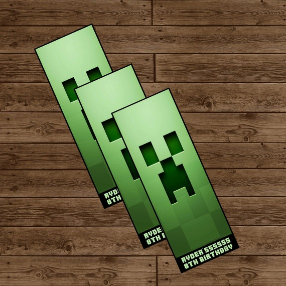 Minecraft bookmark template related keywords minecraft for Minecraft bookmark template