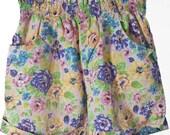 80s Flower Child Shorts /// Vintage Colorful Flower Printed Shorts