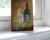 Art, Painting, Inspirational, Miniature painting, Wine Art, Mini Oil Paintigng, Wine still life on Etsy