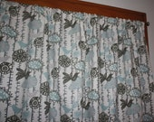 """Designer Pair Menagerie Birds Curtain Panels  Free Shipping 84"""" More Colors"""