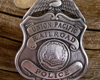 Union Pacific Railroad Badge with pin back