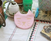 Pink with Gold Cat Change Purse