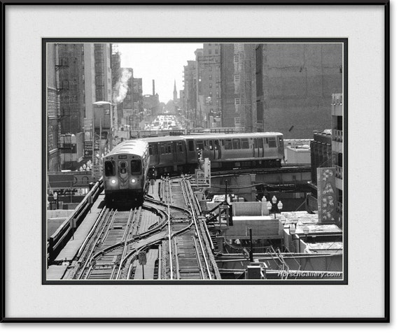 Chicago Cta The El The L The Loop Black Amp White By
