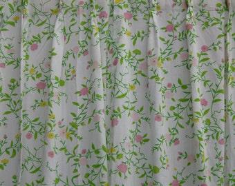 Vintage Floral Pinch Pleated Sheers