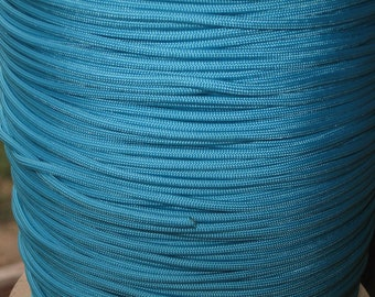 100 ft hank of Neon Turquoise 550 Paracord by E.L. Wood