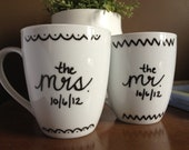 "Personalized Coffee ""Love ""Mugs, Mr. & Mrs."