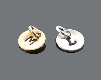 add-on initial charm - sterling silver or gold filled