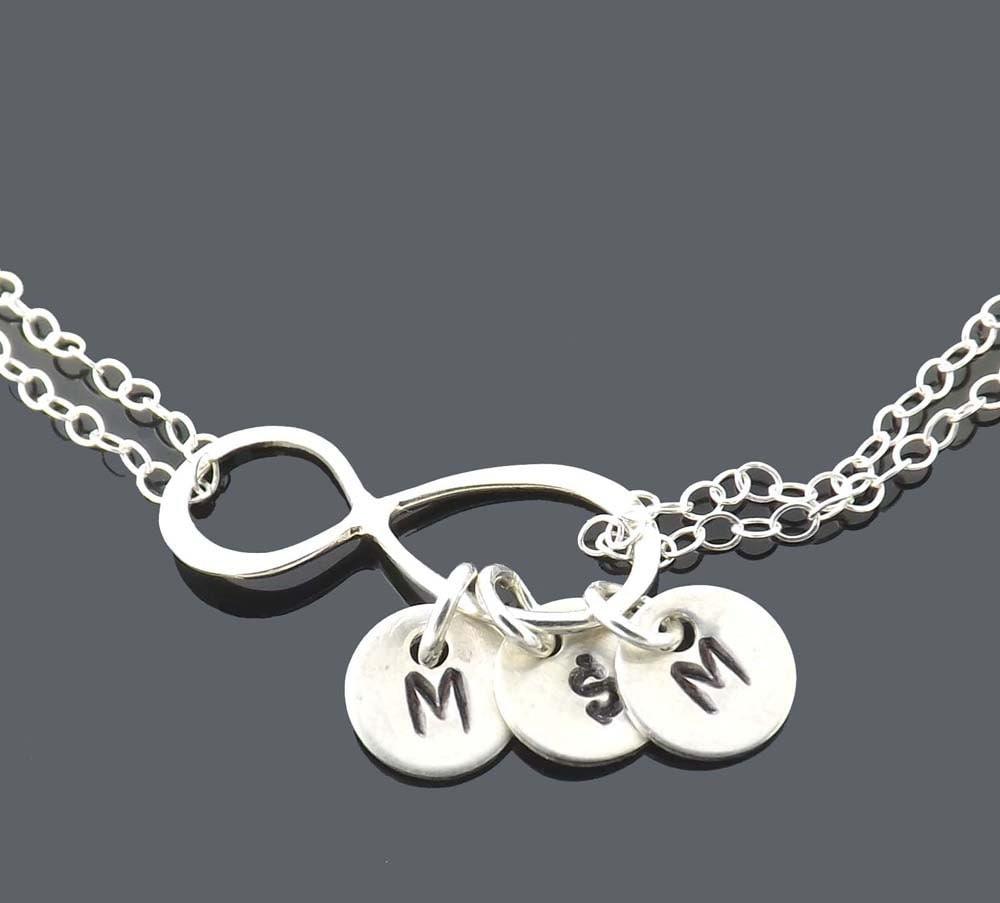 Design Your Own Custom Bangle Charm Bracelet Pick Your Charms: Infinity Charm Bracelet Infinity Bracelet Personalized