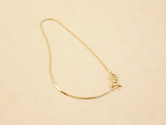 Vintage Antique Gold Chain Bracelet Genuine Real Gold Dainty Chain Vintage Gold 14k