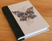 Steampunk Inspired Mechanical Butterfly journal, notebook, sketchbook, Memory Book, guestbook - Ready to Ship