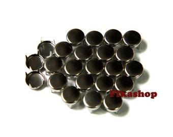 25% Off Clearance SALE : 10mm 50pcs Silver flat head round studs / HIGH Quality - Fikashop