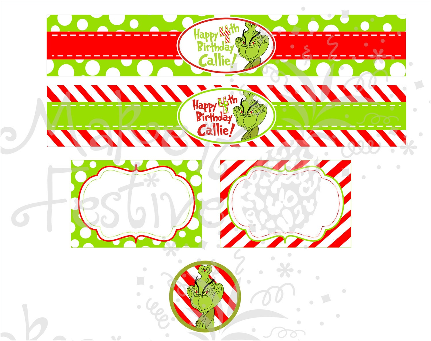 Grinch Water Bottle Labels Diy Pictures to Pin on ...