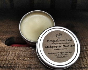 Multipurpose Ointment With Calendula, Lavender and Chamomile Infused Oil