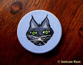 Halloween - Talisman / Charm - Black Cat and Ghost